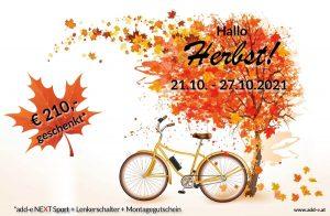 Heißer Herbst mit add-e NEXT  / 210,- € Ersparnis